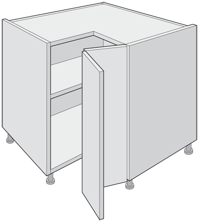 L - Shape Corner Base Unit