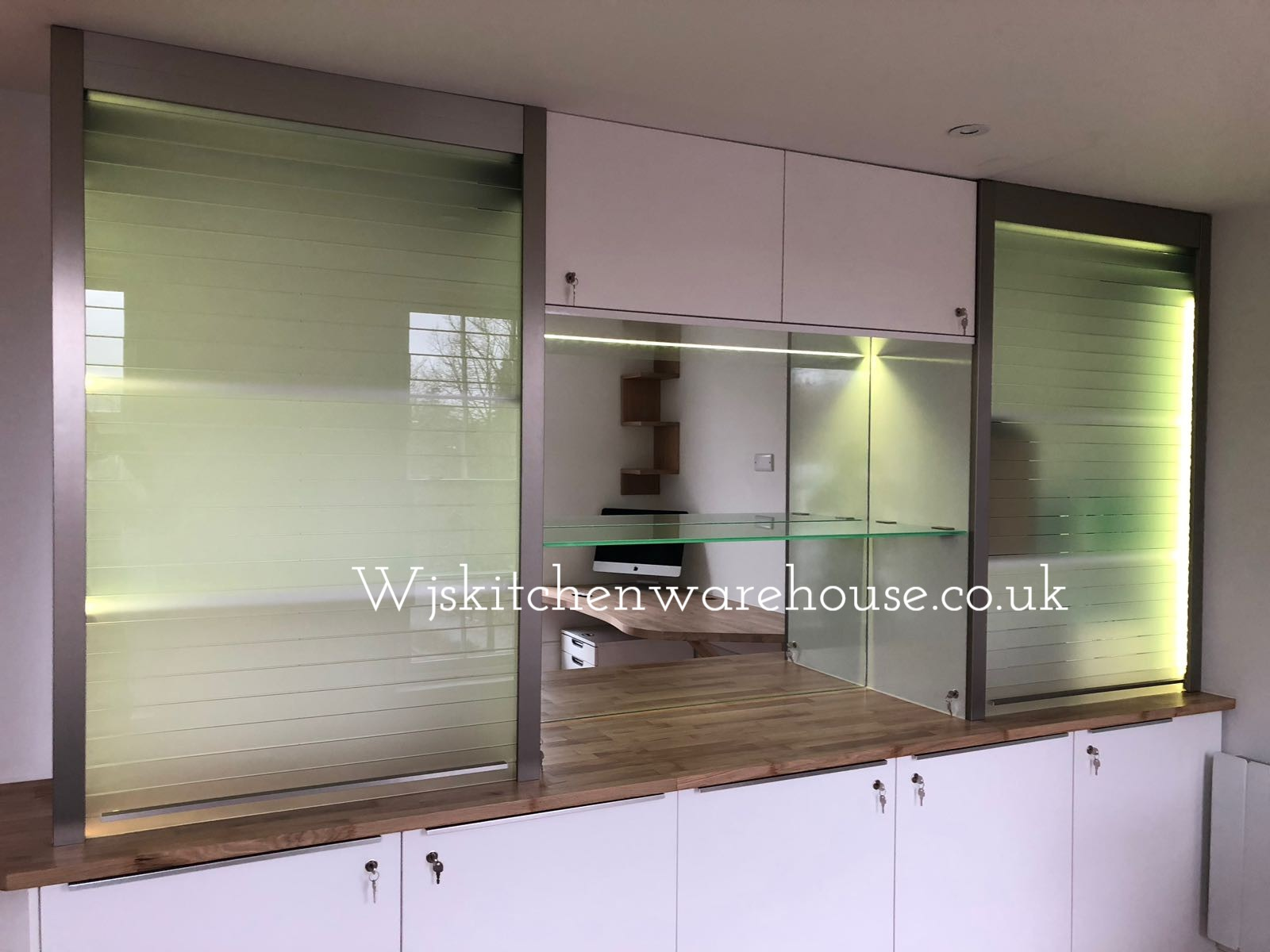 Wjsinstallations Ltd Tambour Door Kits Quasar Glass Tambour Door