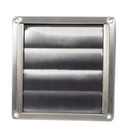 "100mm 4"" Bull-Nose Vent with Louvred Stainless Steel"
