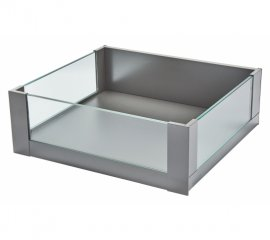 Space Tower ( 450mm depth ) Legrabox Glass - Stainless Steel