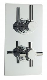 Tec Pura Twin Concealed Thermostatic Shower Valve & Diverter