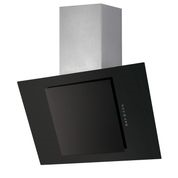 Flavel Unbranded OAGB70 70cm Designer-Style Angled St Steel and Black Glass Hood