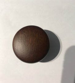 Mahogany finish, knob, 50mm dia.