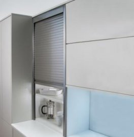 Tambour Door Kit stainless steel effect 500mm x 1450mm