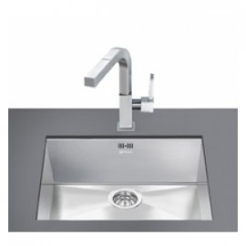 Smeg Quadra VSTQ50-2 Undermount Kitchen Sink in Stainless Steel