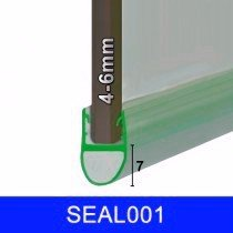 SEAL 001 - 4-6MM GLASS - GAPS UP TO 7MM