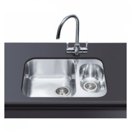 Smeg Alba UM3416-1 Undermount Sink 1.5B Kitchen Sink in Stainless Steel