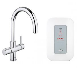 Grohe RED Duo 30058DCO Boiling Hot Water Tap - Brushed Steel